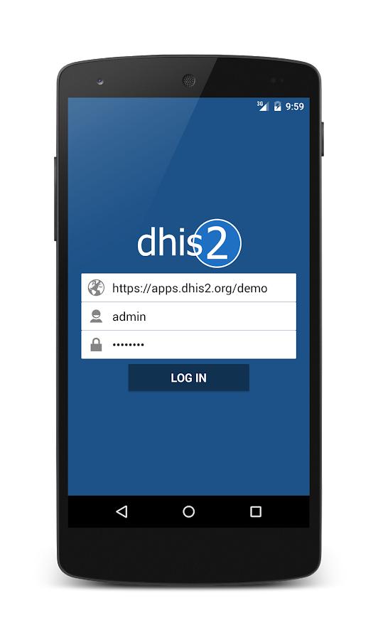 Dashboard for DHIS2.- screenshot