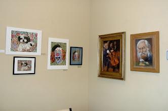 Photo: 44-21-13 Les & Sydelle Sher Art exhibit at Weissman Ctr