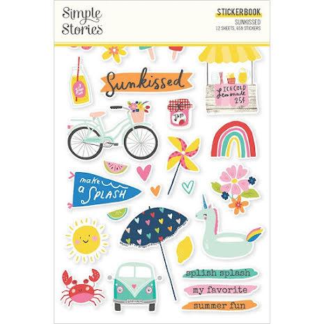 Simple Stories Sticker Book 4X6 12/Pkg - Sunkissed