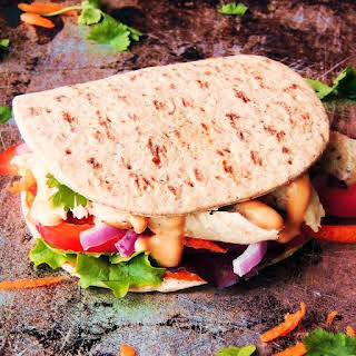 Thai Chicken Flatbread Sandwiches.