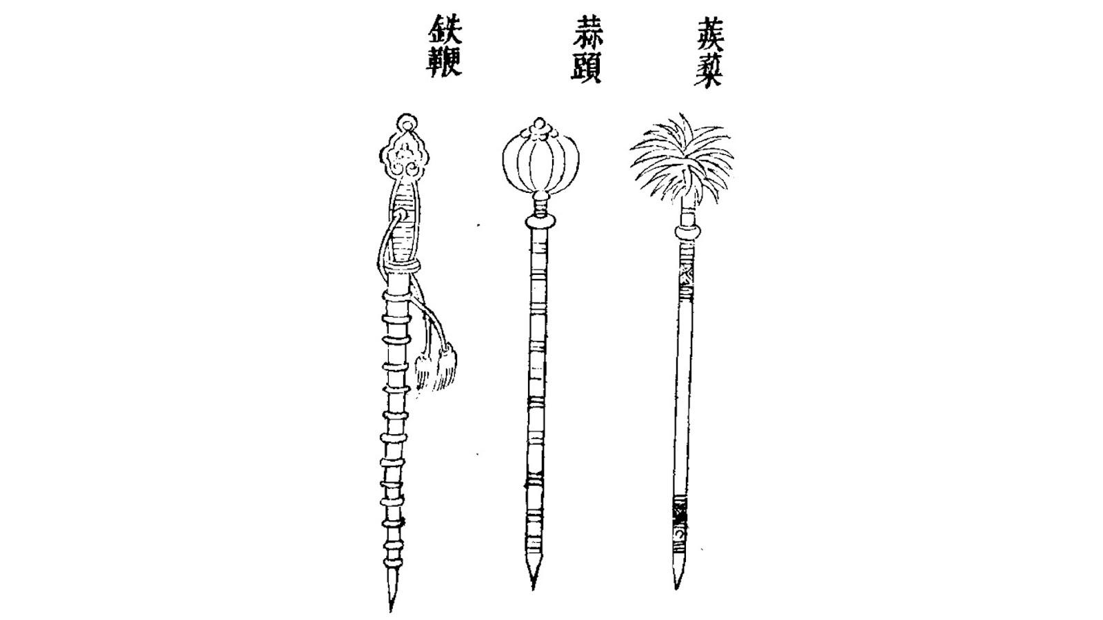 History of Gunpowder: Wujing Zongyao Maces