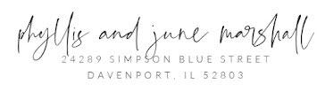 Phyllis & June - Address Label template