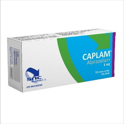 Alprazolam Caplam 1mg 50 Comprimidos