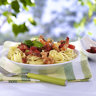 Prawn, Tomato and Basil Spaghetti
