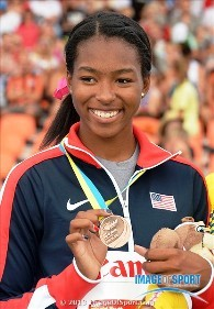 Ariana Washington won 2 individual medals and was a leader of Team USA. Photo by Kirby Lee, Image of Sport.