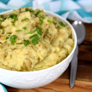 Colconnan - Irish Mashed Potatoes with Leeks and Cabbage.