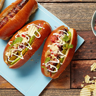 Sonoran Hot Dogs with Bacon, Pico de Gallo, and Avocado