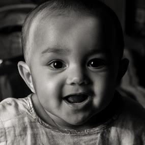 Innocent face  by Iqbal Kabir - Black & White Portraits & People