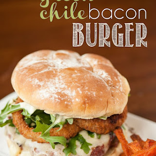 Green Chile Bacon Burgers