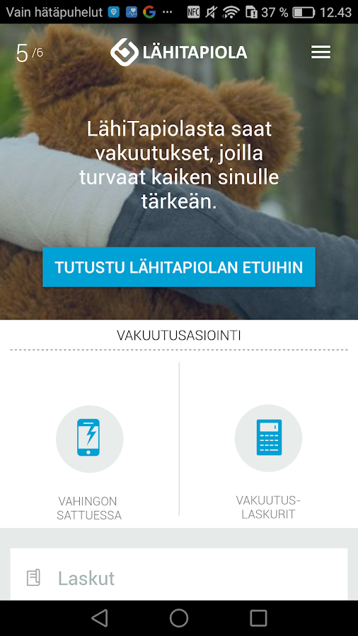 S-mobiili- screenshot