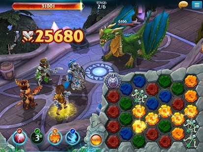 Forge of Glory: Match3 MMORPG & Action Puzzle Game Screenshot