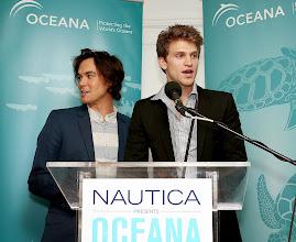 Photo: Co-hosts Tyler Blackburn and Keegan Allen of Pretty Little Liarscelebrate World Oceans Day at Nautica's Oceana Beach House