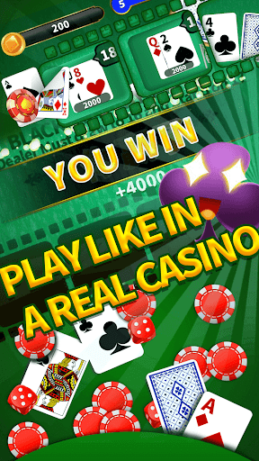 2020 Blackjack 21 Classic Free Table Poker Game Android App
