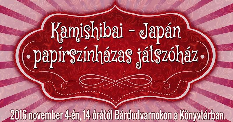 Kamishibai japán papírszínházas játszóház 2016.11.04