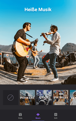 Video Maker von Fotos mit Music & Video Editor screenshot 5
