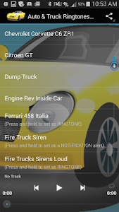 Auto & Truck Ringtones Sounds screenshot 2