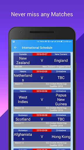 Live Cricket & Prediction 2.6 screenshots 2