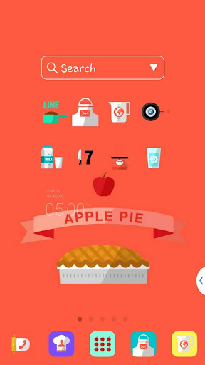 Apple Pie LINEランチャーテーマ