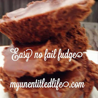 Easy No Fail Fudge.