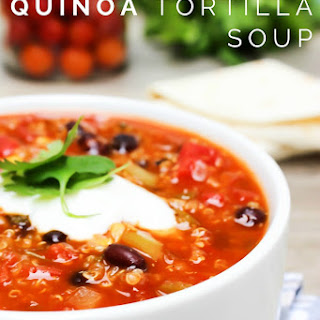 Slow Cooker Quinoa Tortilla Soup