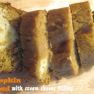 Perfect Pumpkin Bread with Cream Cheese Filling.