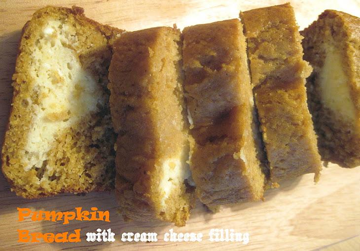 Perfect Pumpkin Bread with Cream Cheese Filling Recipe
