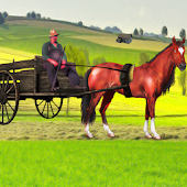 Village Horse Cart Carriage Transport Simulator 3D