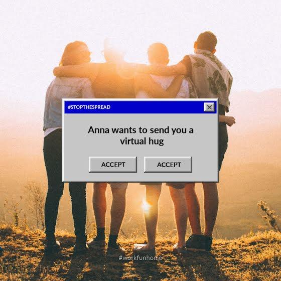 Virtual Hug Request - Instagram Post Template