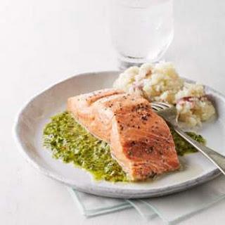Roast Salmon with Chimichurri Sauce