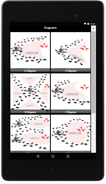 Goose Hunting App & Diagrams- screenshot