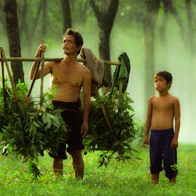 by Suardhito Pratama - People Family ( dad and 'kid' )