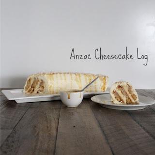 Anzac Cheesecake Log.