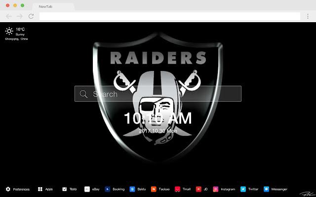 Oakland Raiders HD New Tab Popular NFL Themes