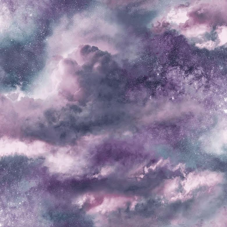 Fantasia Glittrande himmelsk galax tapet från Arthouse - Mörklila 700062