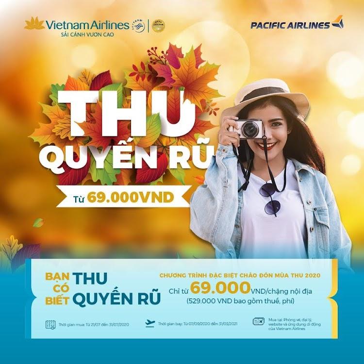 Chương trình chào thu quyến rũ 2020 vietnam airlines khuyến mại vé máy bay
