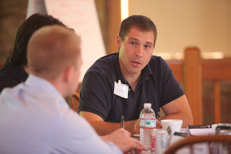 Photo: Vanderbilt Owen Business school Executive MBA (EMBA) incoming students gather at New Harmony, IN for a week of orientation, team building, and classes.(Vanderbilt Photo / Daniel Dubois)