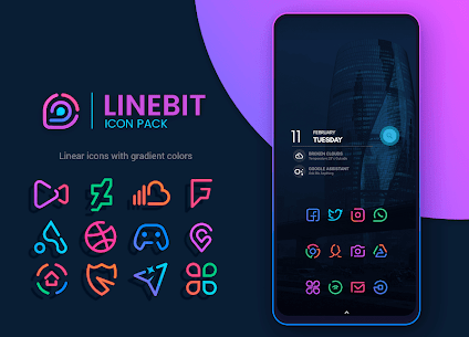 Linebit – Icon Pack (MOD, Paid) v1.5.3 1