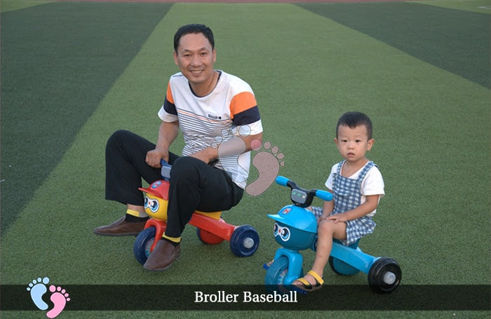Xe đạp ba bánh trẻ em Broller XD3 Baseball 2