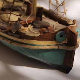 Decoration boat by Andrea Tomašević - Transportation Boats ( macro, decoration, macro photography, table, restaurant, boat )