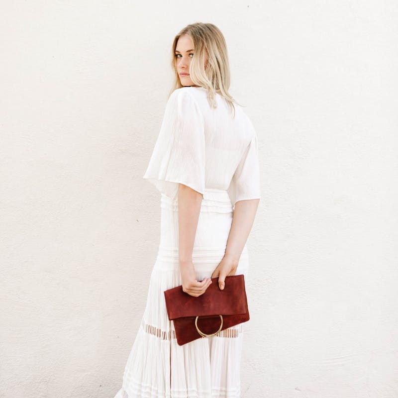 Parker Clay Red Clutch
