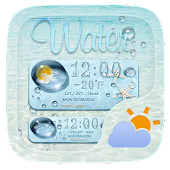 Water GO Weather Widget Theme