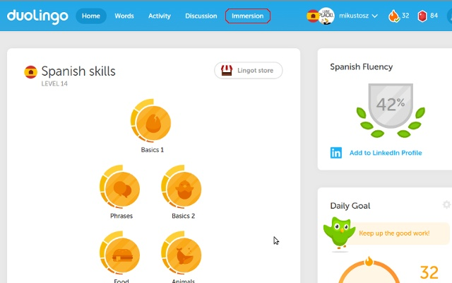 Duolingo immersion unlocker