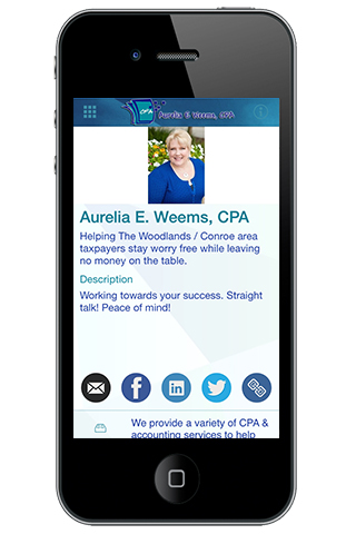 Aurelia Weems, CPA- screenshot