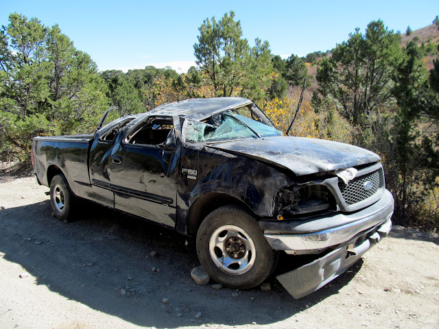 Oops! On the way from Cottonwood Canyon to Bruin Point.