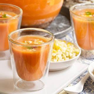 Gazpacho, Spanish cold tomato soup.