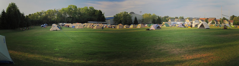 Photo: Day 2 - Tent city at Hobart-William Smith College in Geneva