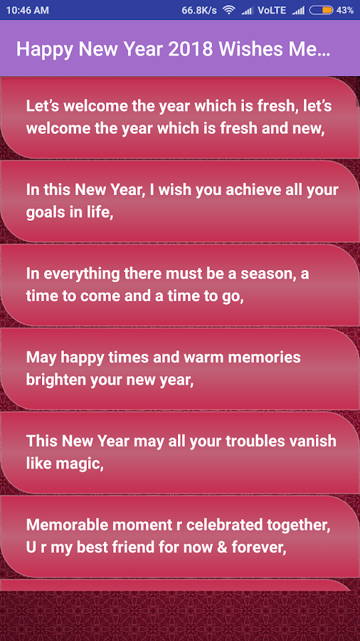 Happy New Year 2018 Wishes Messeges - Android Apps on Google Play