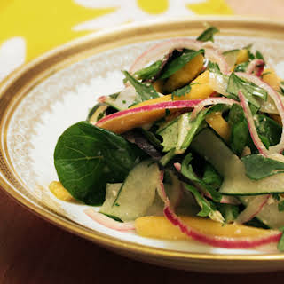 Mexican Mango and Cucumber Salad with Chipotle Lime Dressing.