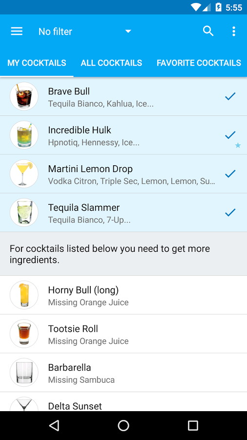 My Cocktail Bar Pro- screenshot