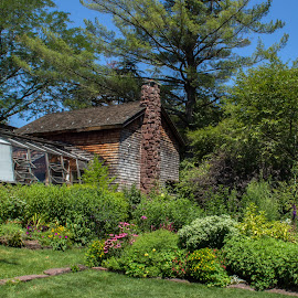 Artist and Gardener by Judy Florio - Buildings & Architecture Other Exteriors ( formal, greenhouse, summer, flowers, landscape, garden )